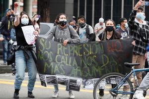 Imagen de las recientes protestas en Bogotá.