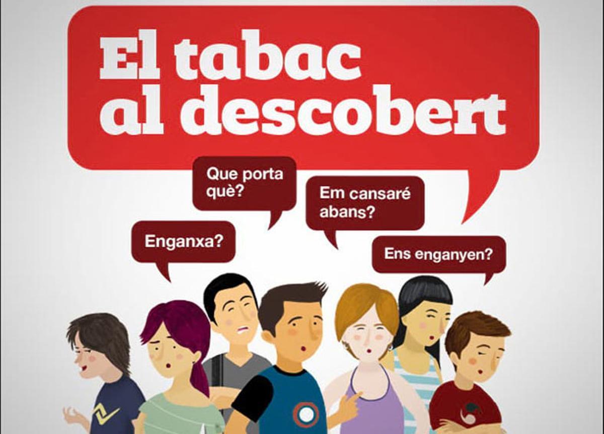 La Biblioteca Central Pare Miquel de Esplugues pone los riesgos del tabaco al descubierto