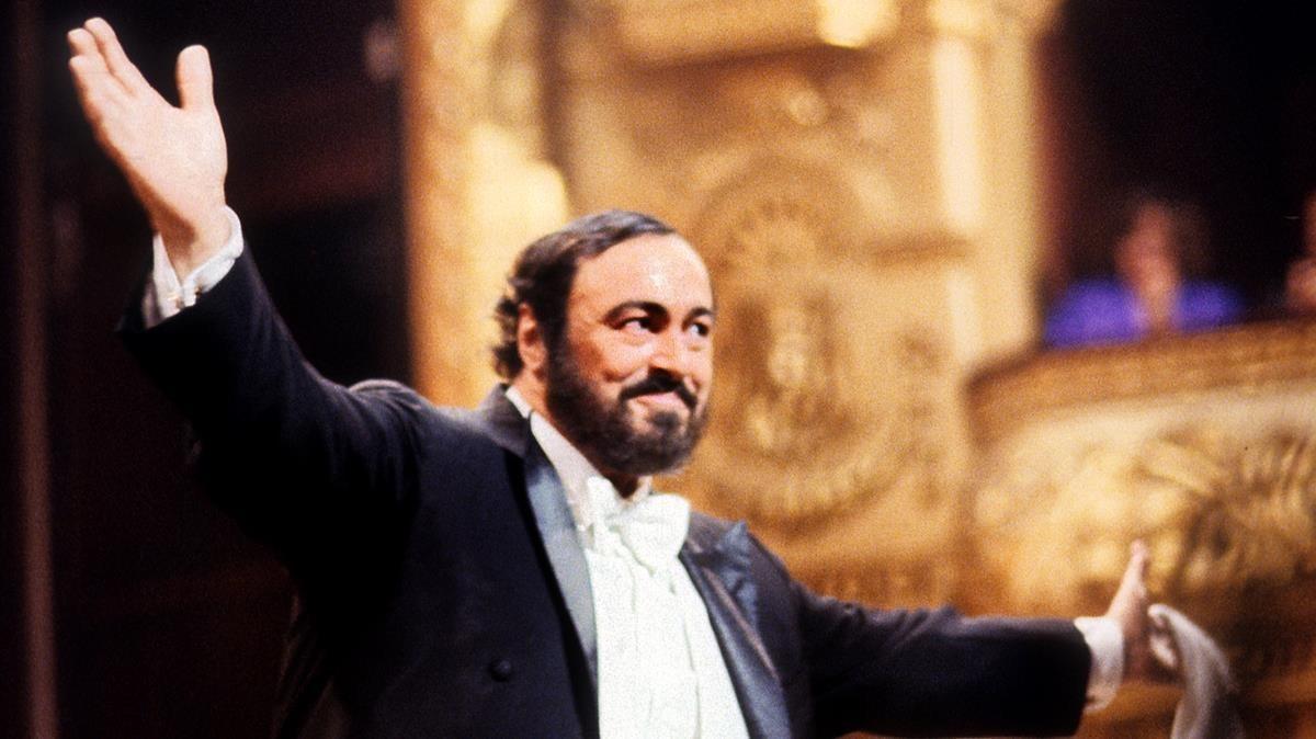 Pavarotti, en el Liceu, en 1989.