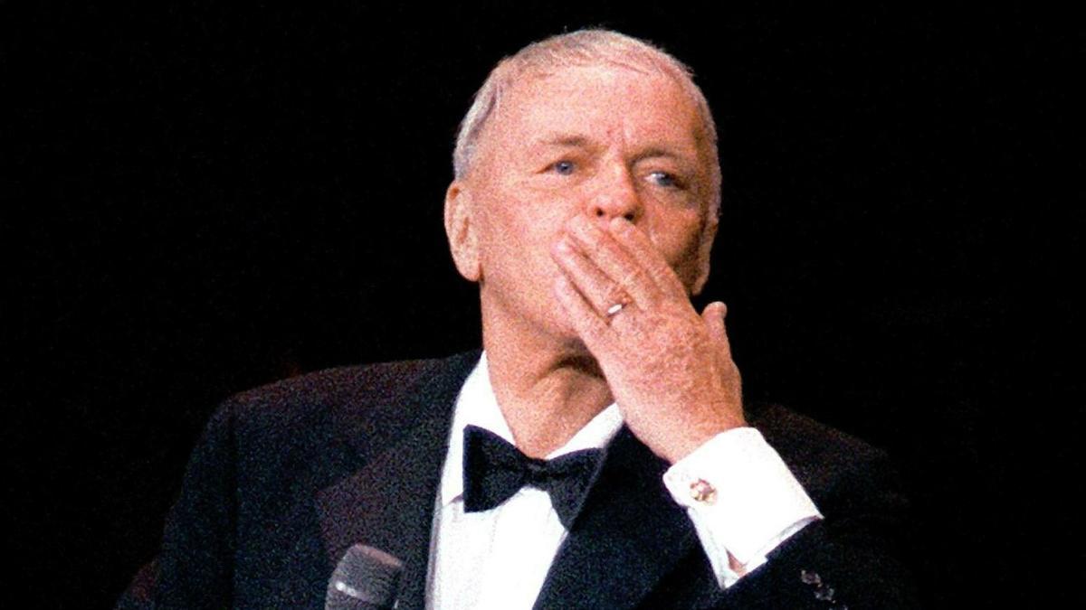 Frank Sinatra, en un concierto en 1991, en París.