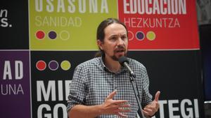 Pablo Iglesias, en un acto de campaña en Bilbao.