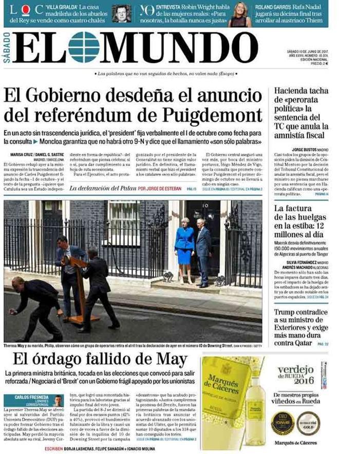 El referéndum catalán parte el quiosco en dos
