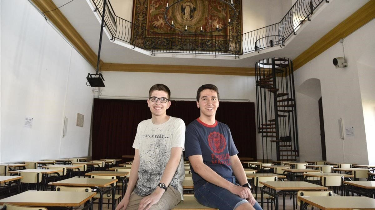 Dos alumnes del mateix institut de Cervera treuen un 9,9 i un 9,8 a la selectivitat