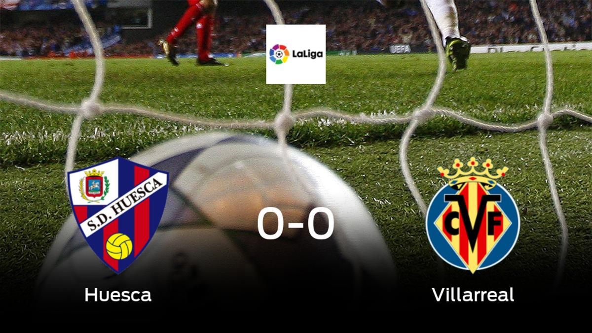 El Huesca y el Villarreal se reparten los puntos en un partido sin goles (0-0)