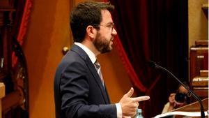 Aragonès admite un momento complicado en la pandemia y pide responsabilidad.