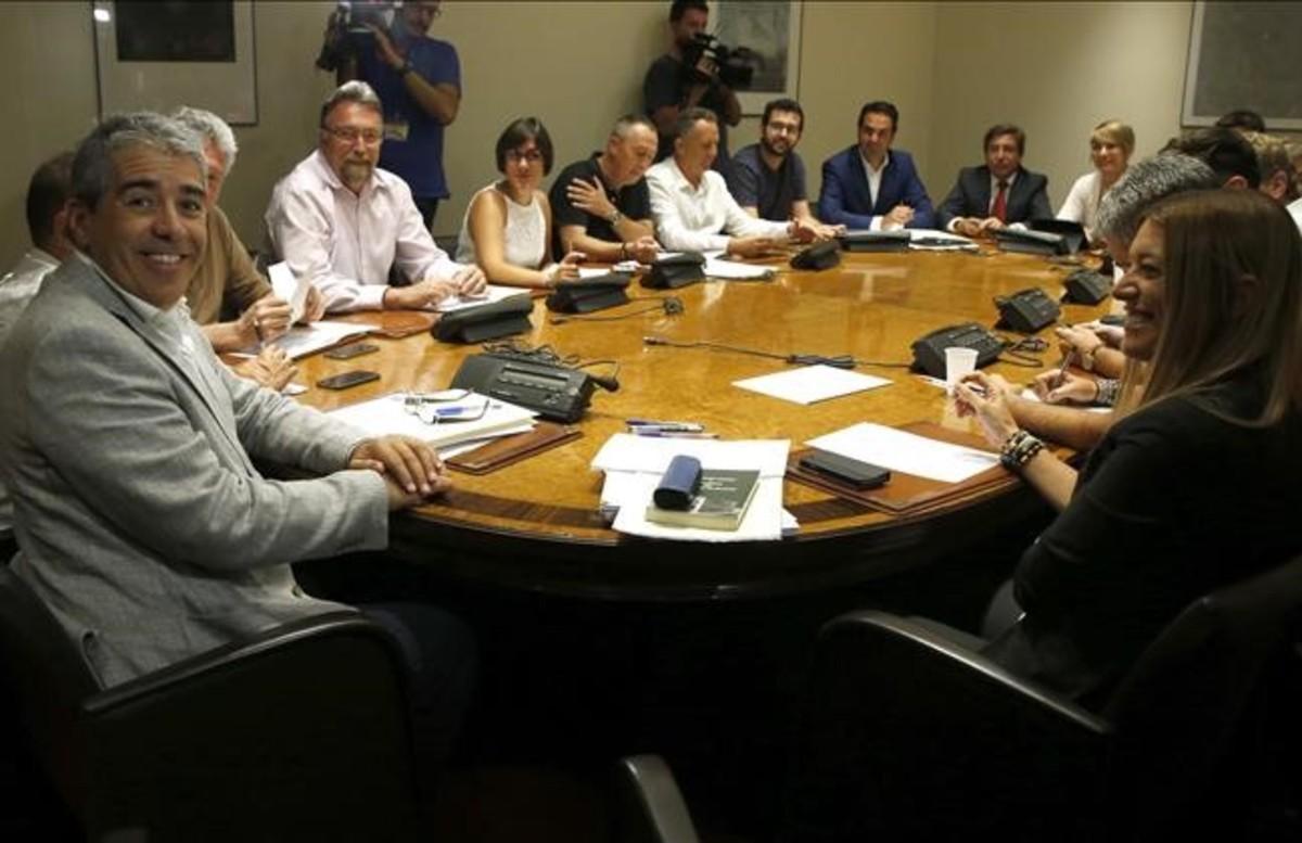 Francesc Homs, portavoz de PDC,durante la reunión del Grupo Mixto en el Congreso.