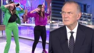 Paz Padilla y Anabel Pantoja en 'Sálvame' y Pedro Piqueras en 'Informativos Telecinco'.