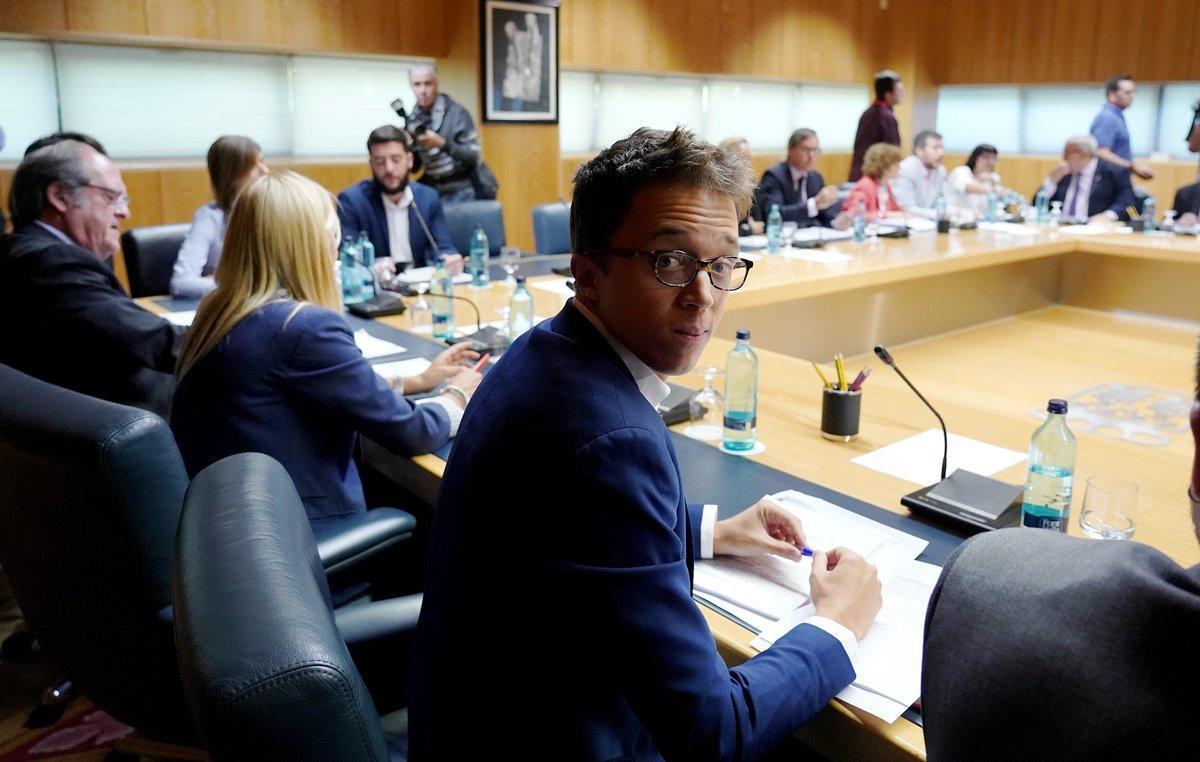 El portavoz de Más Madrid, Íñigo Errejón, en la junta de Portavocesde la Comunidad de Madrid