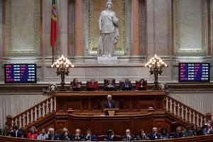 Una sesión del Parlamento portugués de octubre de 2019.