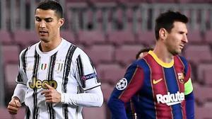 Cristiano Ronaldo y Messi, durante el partido del pasado martes en el Camp Nou.