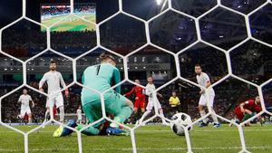 David De Gea encaja el segundo gol.