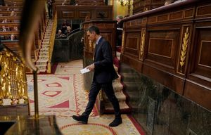 El presidente del Gobierno, Pedro Sánchez, en uno de los últimos plenos del pasado año