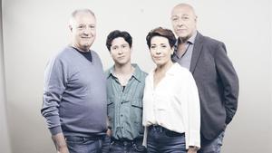 Jordi Bosch, Roger Vilà, Emma Vilarasau y Jordi Martínez, los cuatro intérpretes de la 'La cabra, o qui és Sylvia?', que presenta La Villarroel.
