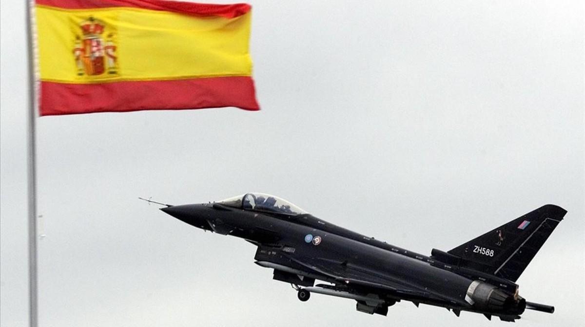 Uno de los eurofighter de las fuerzas armadas españolas.