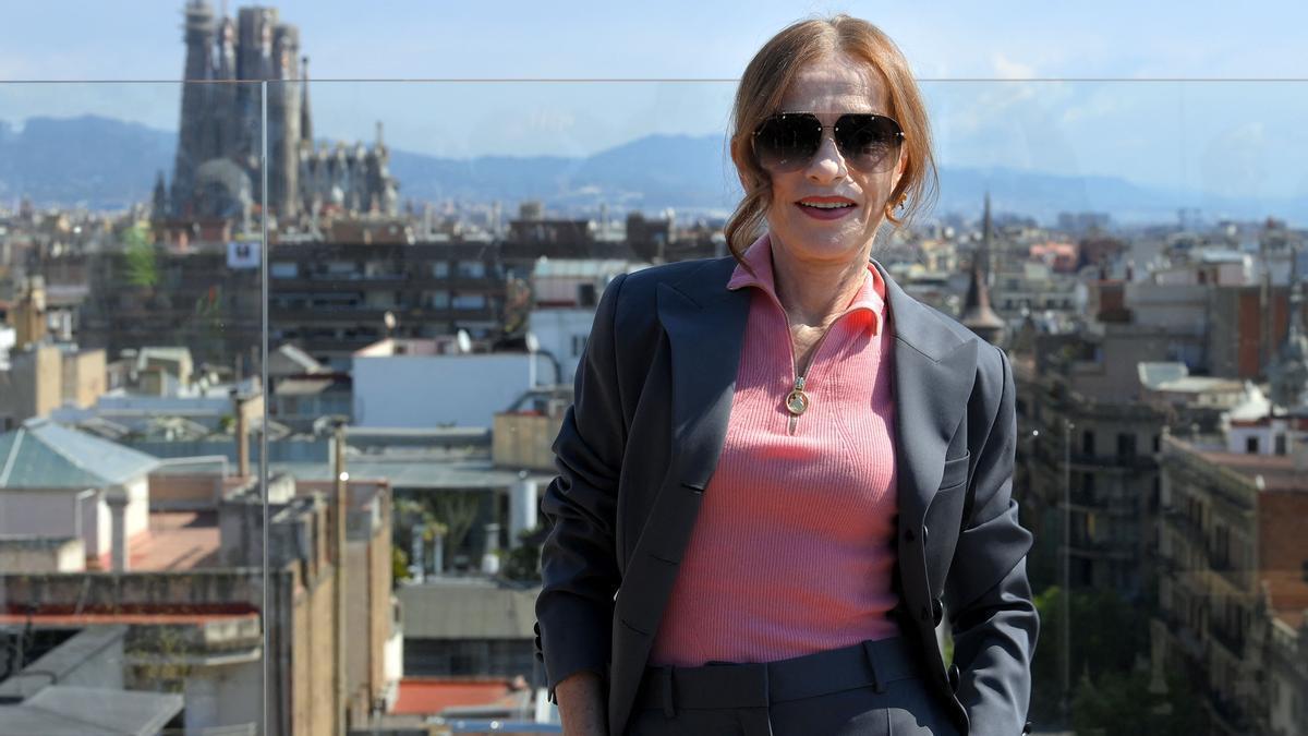 Isabelle Huppert, fotografiada en Barcelona tras presentar 'Mama Maria' en el BCN Film Fest.