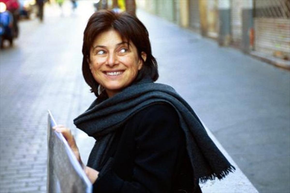 Chantal Akerman, en Barcelona, en el 2001.