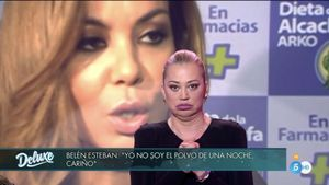 Belén Esteban contestando a María José Campanario. MEDIASET