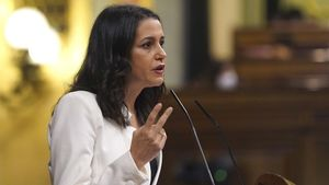 Inés Arrimadas, en octubre, en la tribuna del Congreso.