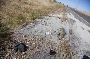 Lugar del grave accidentede tráfico,que se ha producido en el kilometro 23 de la CM-4009 en la localidad toledana de Escalonilla.
