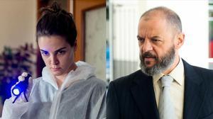 Los actores de la serie 'Kosta' María Romero y Óscar Zafra.