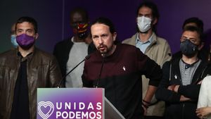 El lider de Unidas Podemos  Pablo Iglesias