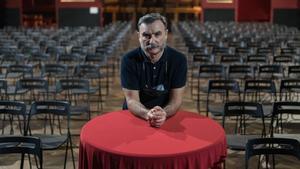 Albert Guijarro, director de Apolo, en la sala, con asientos, este martes.