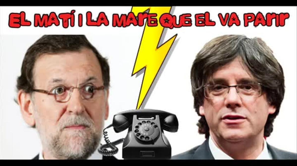 La broma telefónica de un programa de Ràdio Flaixbac al presidente del Gobierno, Mariano Rajoy, en laque un imitador se hace pasar por el 'president' Puigdemont.