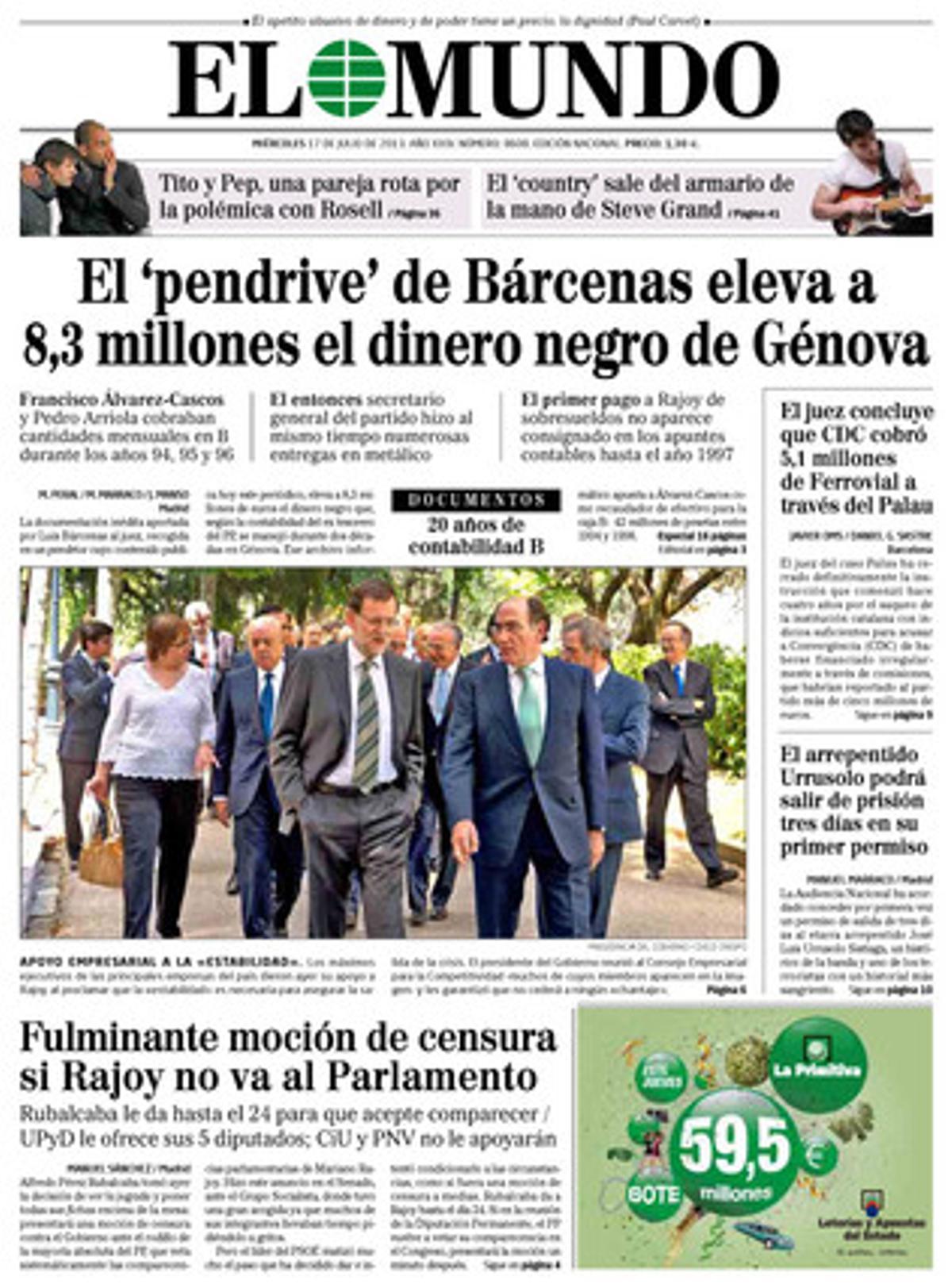 El Mundo, 17-07-2013.