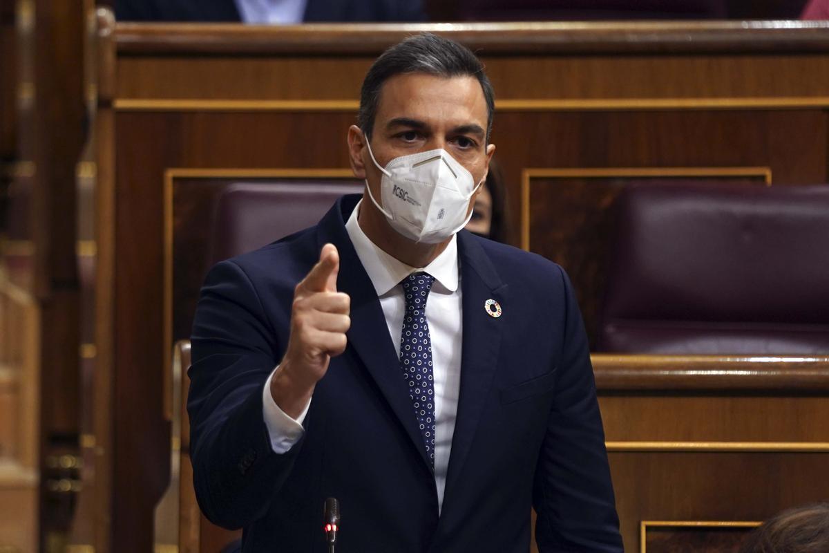 Pedro Sánchez, en un pleno en el Congreso.