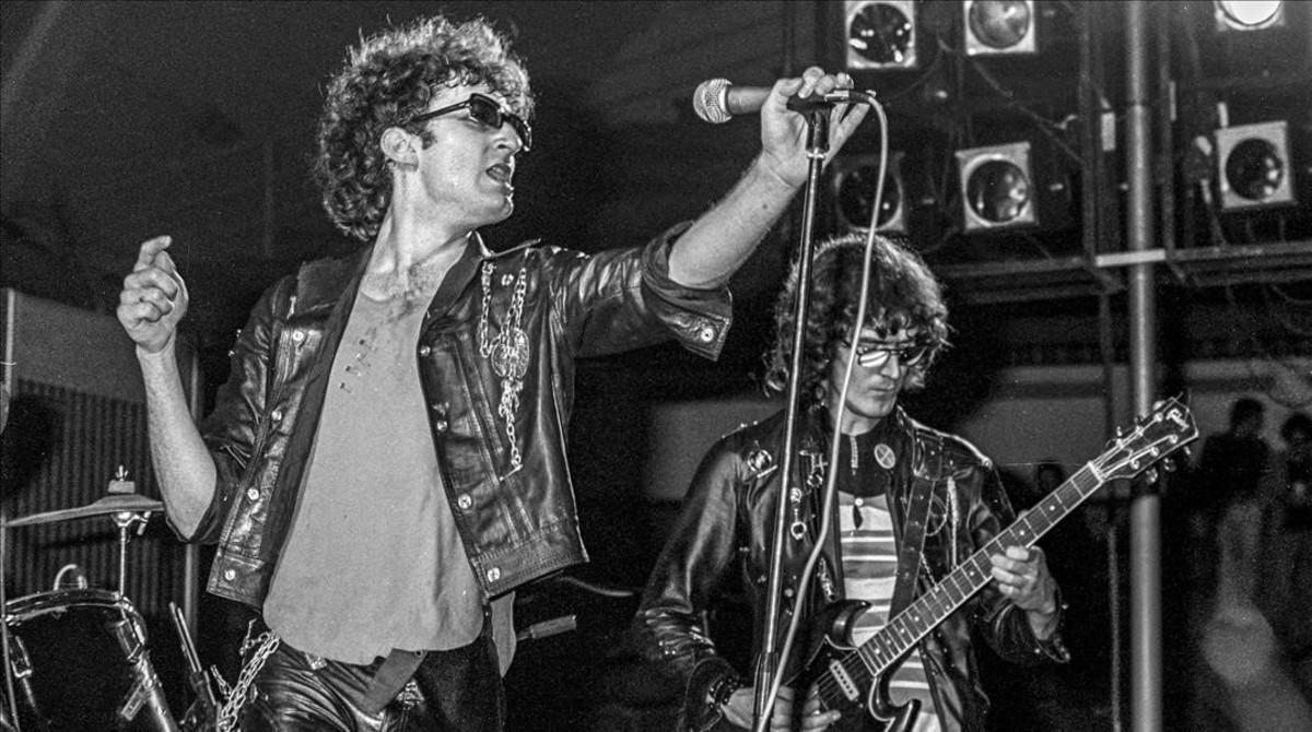 Concierto de la Banda Trapera del Río en Barcelona en 1979.