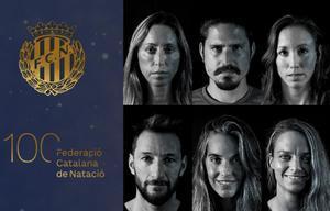 Una imagen del video de celebración de los 100 años de la natación catalana