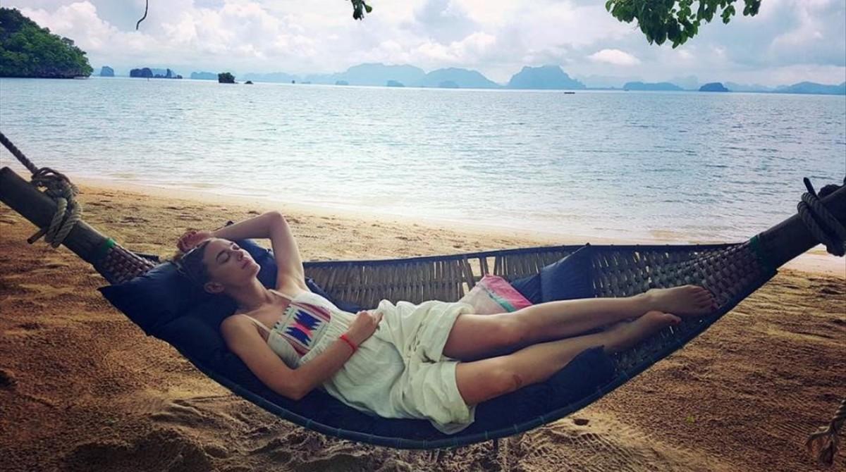 Marta Hazas disfruta con su marido, Javier Veiga, de su luna de miel en Tailandia.