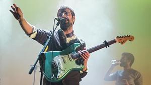 Guillem Gisbert, en una actuación de Manel, en el Poble Espanyol, el pasado noviembre.