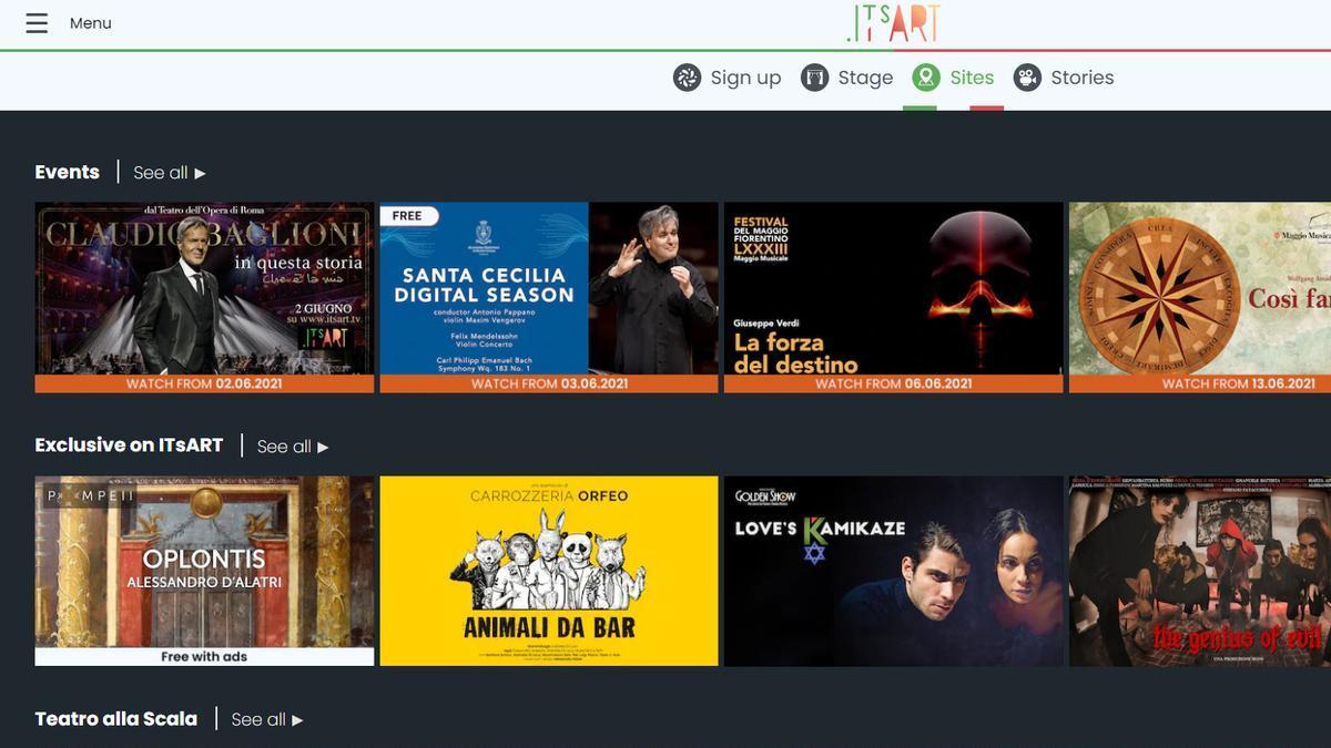 Italia estrena una plataforma digital para ofrecer al mundo su cine y cultura
