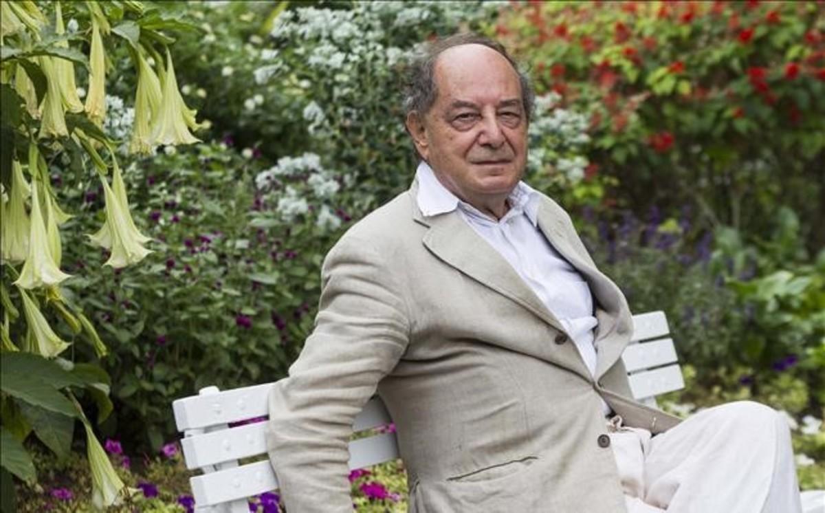 El escritor y editor Roberto Calasso, en Pollença, donde ha recibido el premio Formentor.
