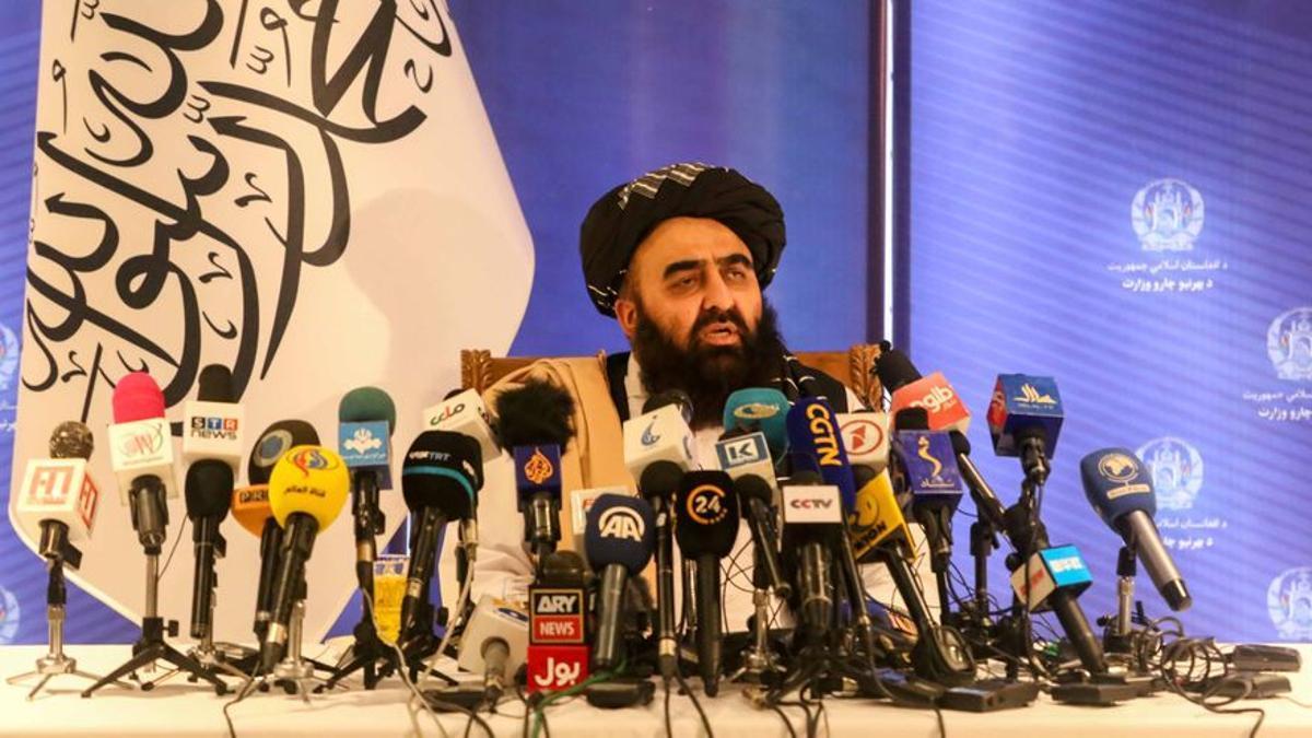 El ministro de Exteriores talibán, Amir Khan Muttaqi, en una fotografía de archivo.