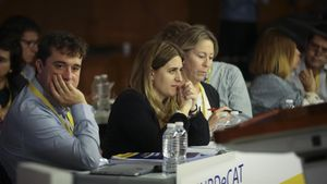 Marta Pascal en el Consell Nacional del PDECat el pasado 26 de mayo