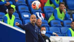 Pep Guardiola, en la Premier.