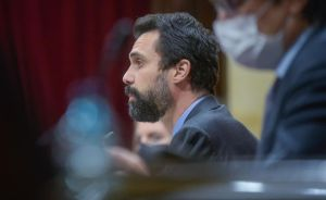 Roger Torrent, en el pleno.