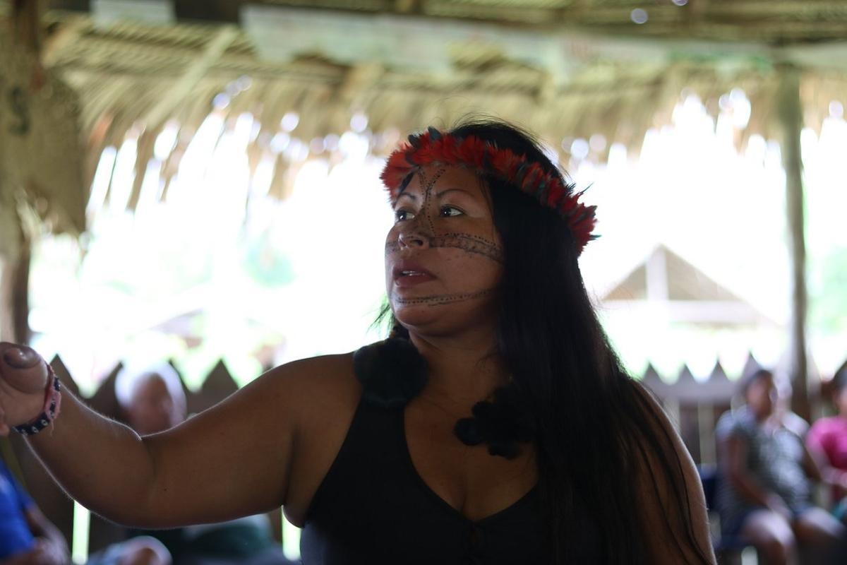 Korap se ha destacado al frente de las mujeres indígenas que luchan por la defensa de sus tierras.