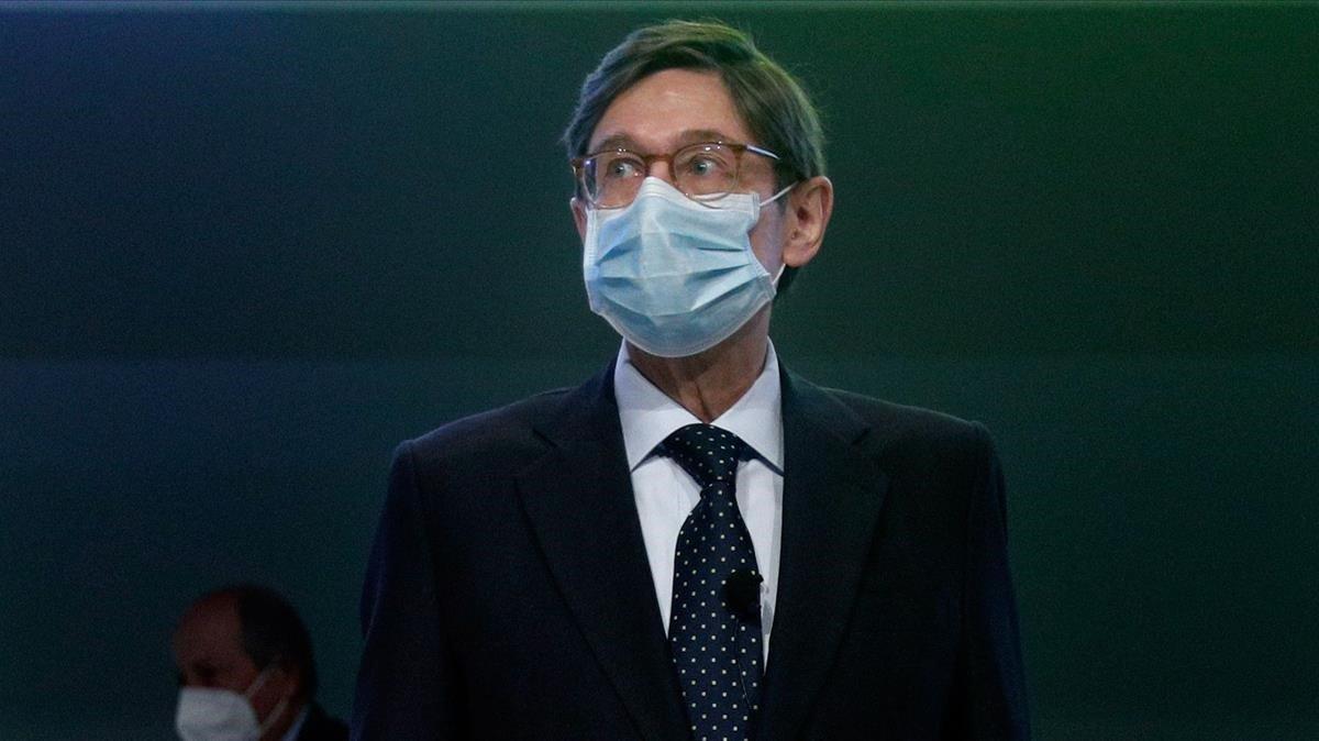 José Ignacio Goirigolzarri, en el inicio de la junta de accionistas de Bankia.