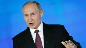 "Putin presenta su nuevo supermisil: ""Escuchadnos ahora"""