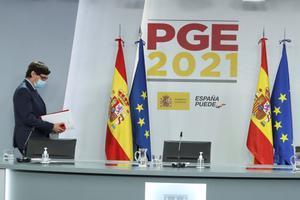 GRAF966. MADRID, 30/10/2020.- El ministro de Sanidad, Salvador Illa, a su llegada para comparecer en rueda de prensa para detallar el Proyecto de Presupuestos Generales del Estado correspondientes a Sanidad, este viernes. EFE/ Juanjo Guillen