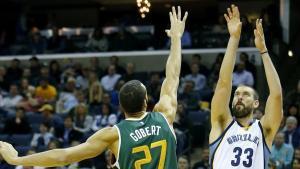 Marc Gasol fue de nuevo de los mejores de los Grizzlies en la victoria a los Jazz.