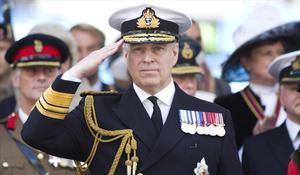El príncipe Andrés, duque de York, en un desfile en el 2015.