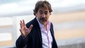 Javier Bardem, fotografiado en San Sebastián tras la presentación de 'El buen patrón'