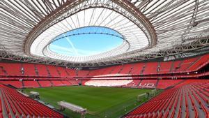 El estadio de San Mamés, esta semana.