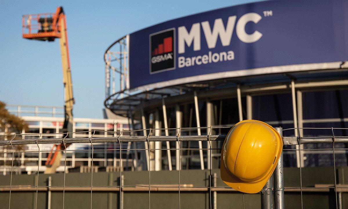 Exterior del recinto donde debía celebrarse el Mobile World Congress (MWC), tras su cancelación por la crisis del coronavirus, el pasado 13 de febrero.