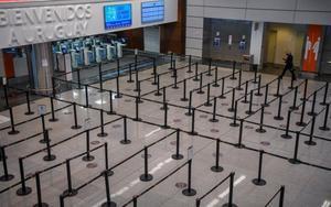 Aeropuerto de Uruguay vacío por la pandemia.