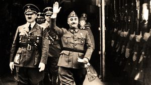 Hitler y Franco, durante el encuentro que mantuvieron en Hendaya en 1940.